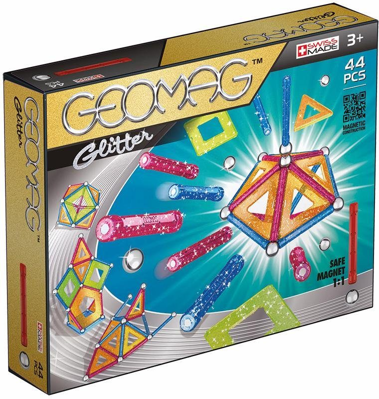Geomag™ Konstruktionsspielzeug (44-tlg.), »Panels Glitter«