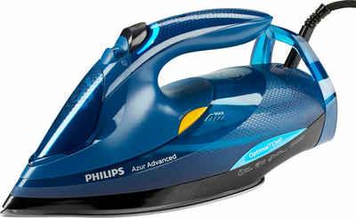 Philips Dampfbügeleisen GC4937/20 Azur Advanced, 3000 W, (240g Dampfstoß, OptimalTEMP, Calc-Clean-System) blau