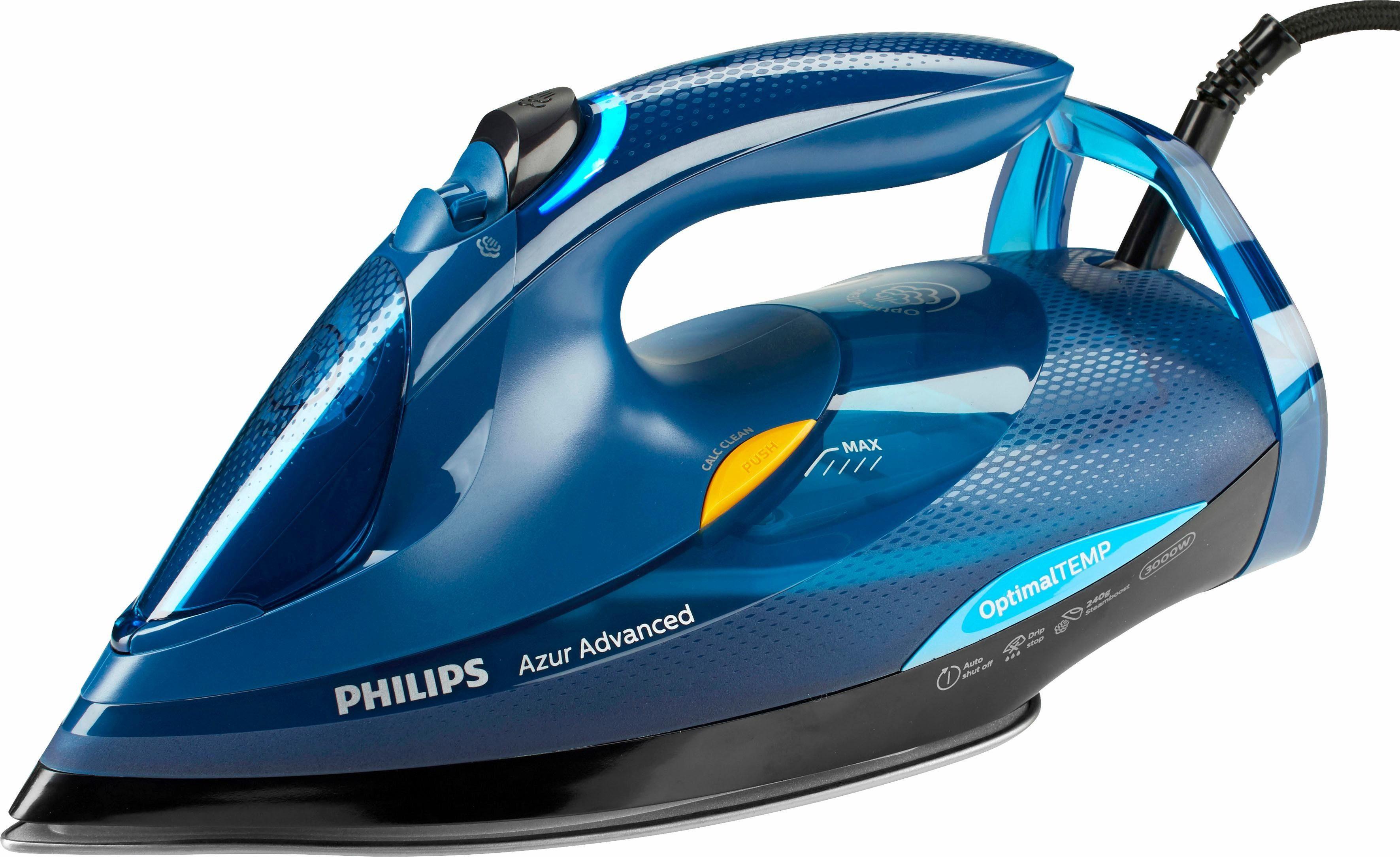 Philips Dampfbügeleisen GC4937/20 Azur Advanced, 3000 W, innovative SteamGlide Advanced Bügelsohle