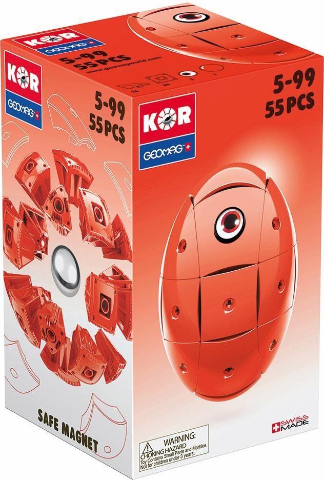 Geomag™ Konstruktionsspielzeug (55-tlg.), »KOR Egg Red«