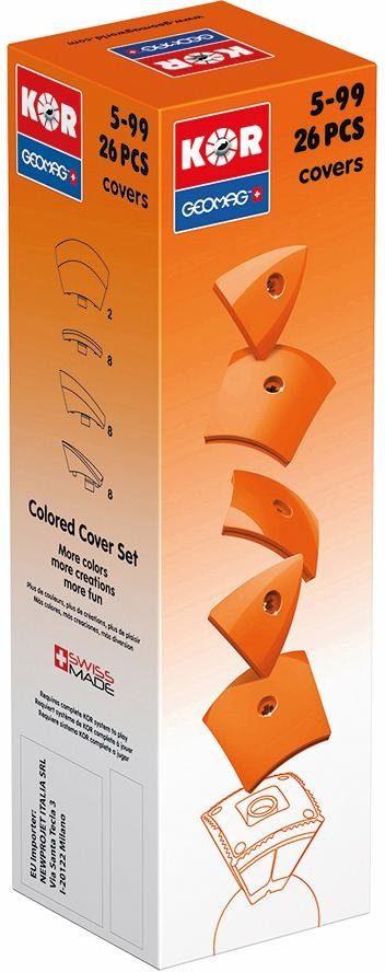 Geomag™ Konstruktionsspielzeug (26-tlg.), »KOR Covers Orange«