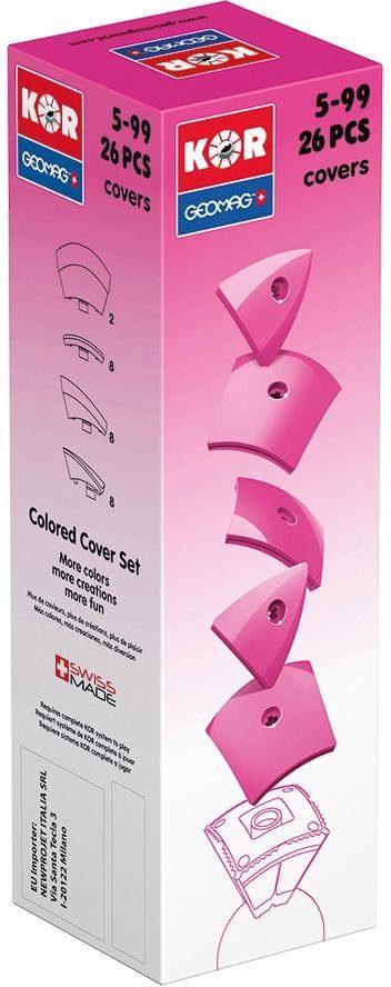 Geomag™ Konstruktionsspielzeug (26-tlg.), »KOR Covers Pink«