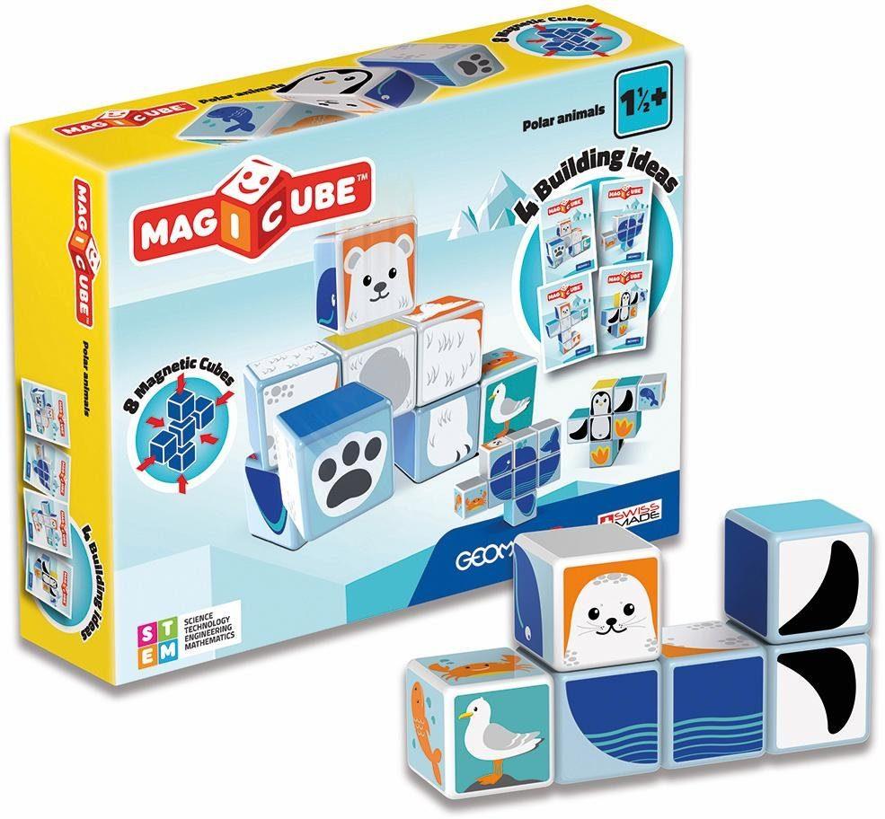 Geomag™ Konstruktionsspielzeug (10-tlg.), »MAGICUBE Polar Animals«