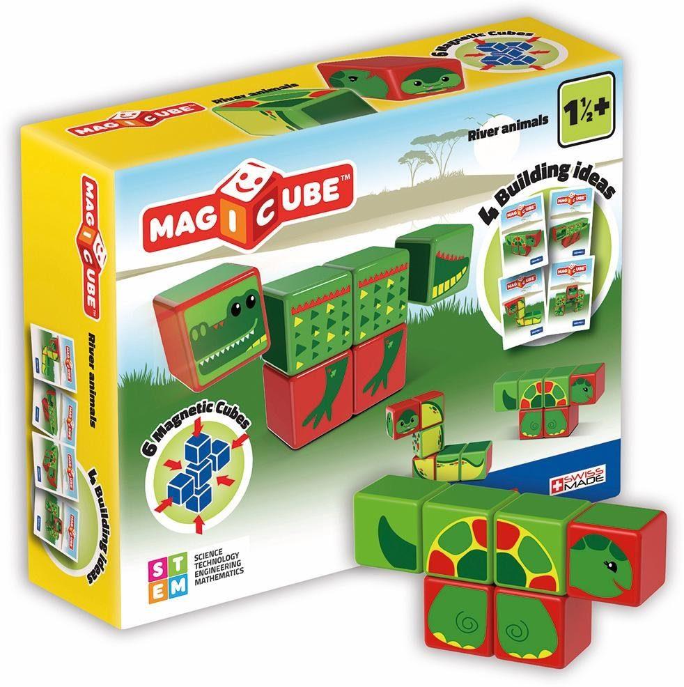 Geomag™ Konstruktionsspielzeug (8-tlg.), »MAGICUBE River Animals«