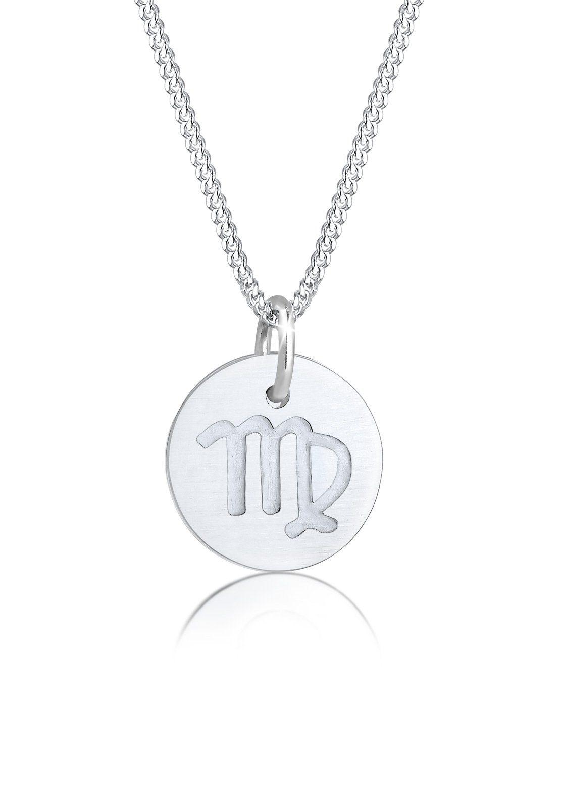 Elli Halskette »Sternzeichen Jungfrau Astro Symbol Matt 925 Silber«