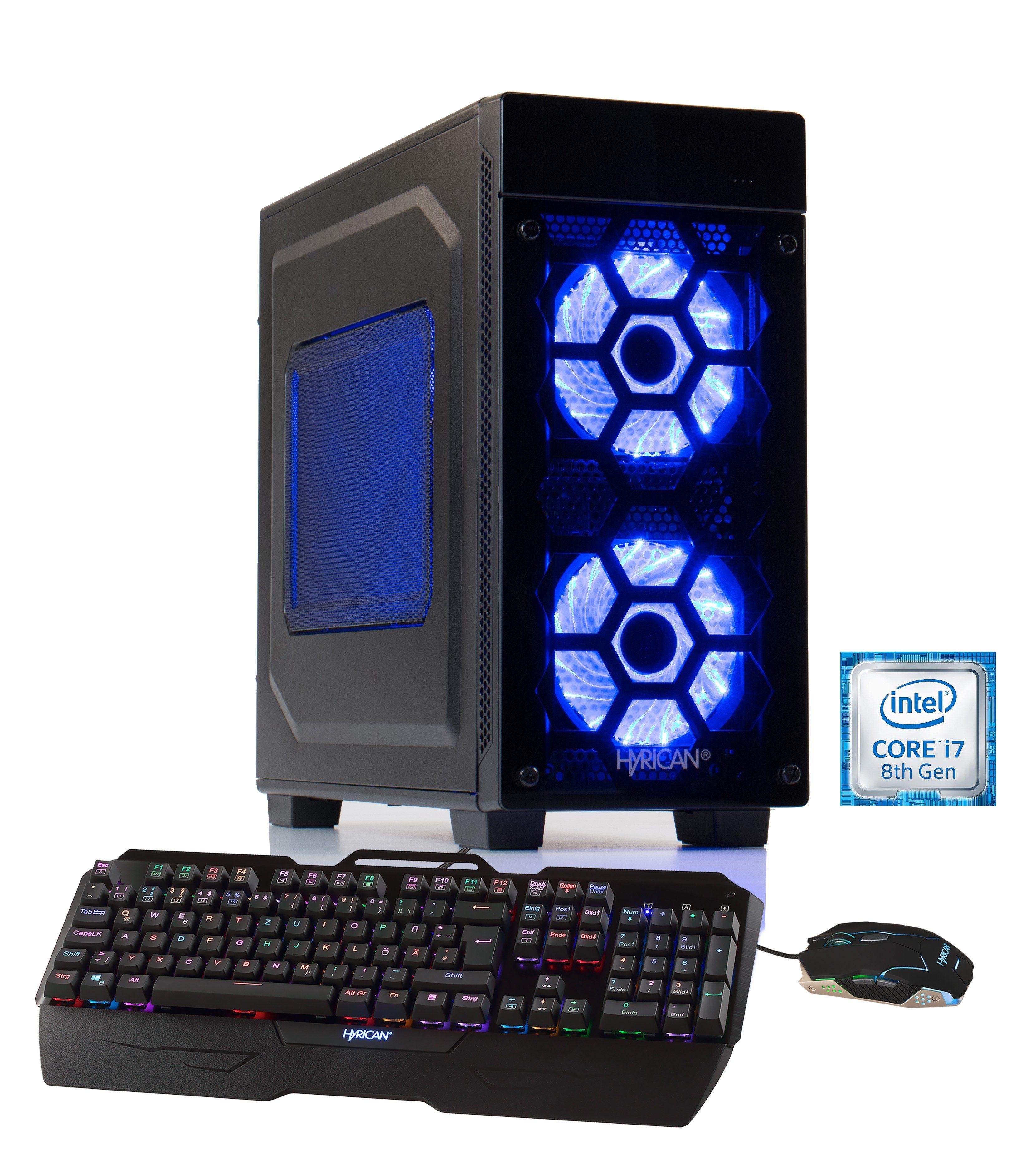 HYRICAN Gaming PC Intel® i7-8700K 16GB 2TB 240GB SSD GeForce®GTX 1080Ti »Striker-X 5767«