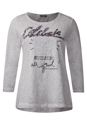 Street One Shirt mit Glitzer Wording