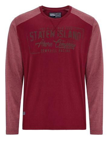 Maple Sportswear Langarmshirt With Fashionable Front Print