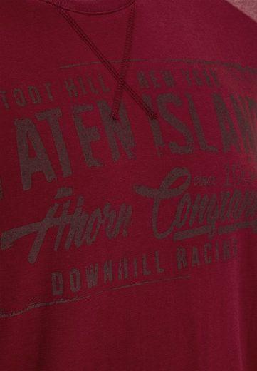 AHORN SPORTSWEAR Langarmshirt mit modischem Frontprint