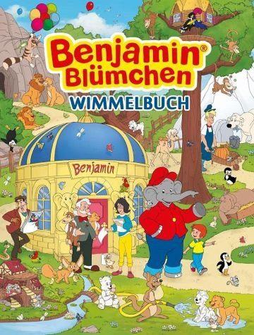 Buch mit Papp-Einband »Benjamin Blümchen Wimmelbuch«