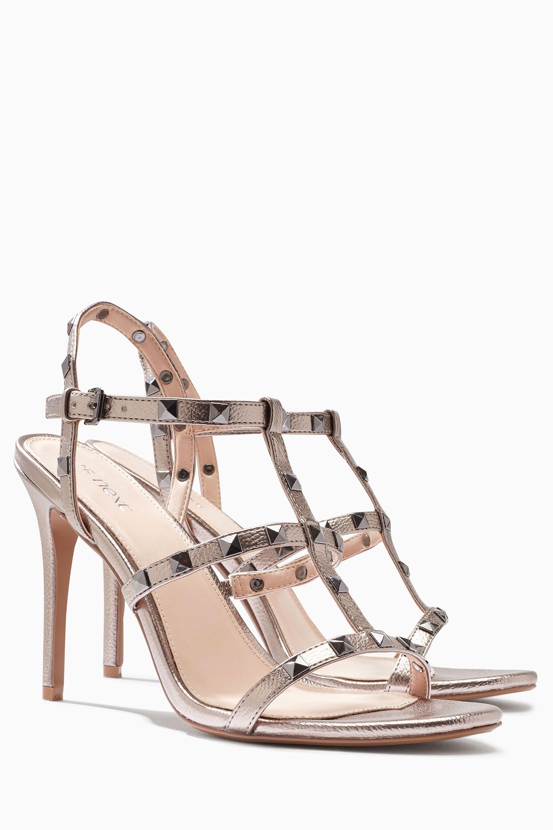 Next Sandale mit Nietenverzierung online kaufen  Metallic