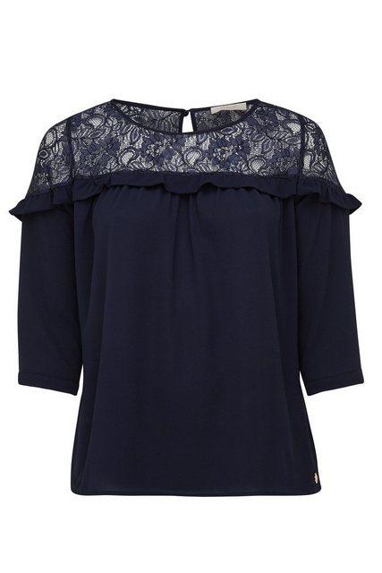 Damen Belloya Spitzenbluse mit Spitze blau | 05400554017595