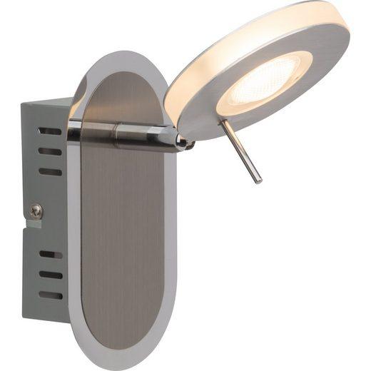 Brilliant Leuchten Benko LED Wandspot eisen/chrom