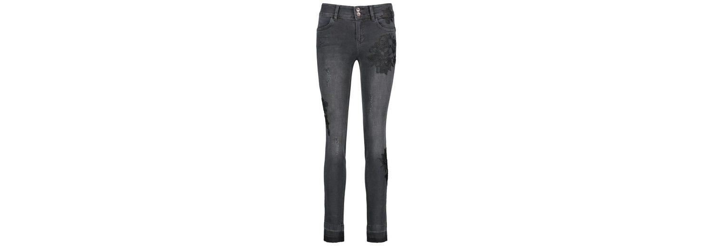 Taifun Hose Jeans lang Jeans mit Applikation, Skinny TS