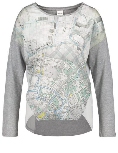 Typhoon T-shirt Long Sleeve Crew-neck Longsleeve With Material-mix