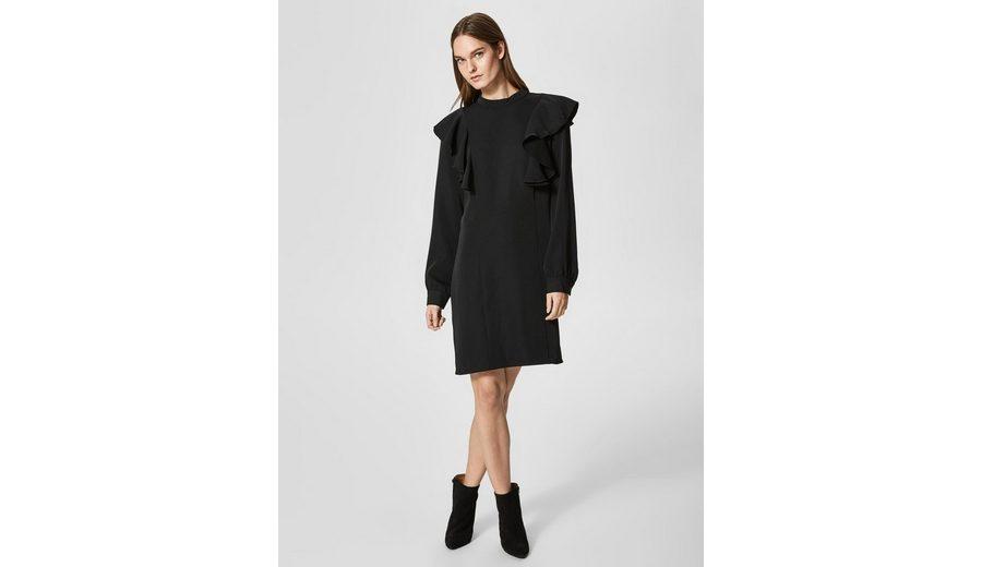 Selected Femme Volant Kleid mit langen Ärmeln Footlocker Online Wdsy6W