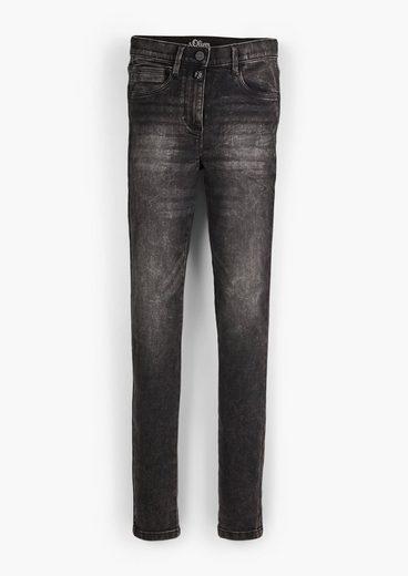 s.Oliver 5-Pocket-Jeans »Regular: Slim leg-Jeans« Waschung