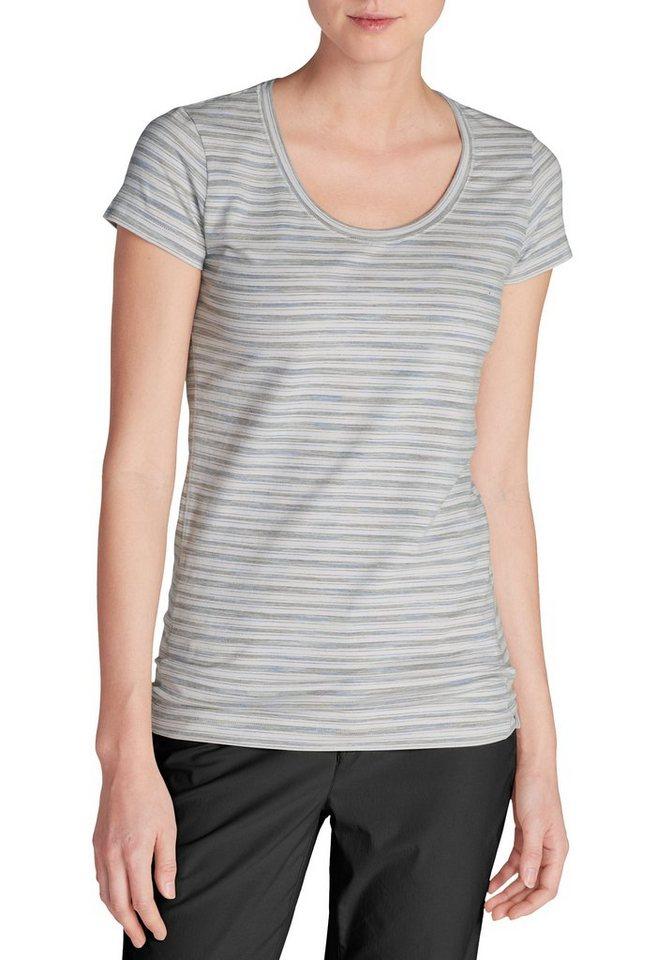 Damen Eddie Bauer T-Shirt Lookout T-Shirt – Spacedye grau | 04057682101255