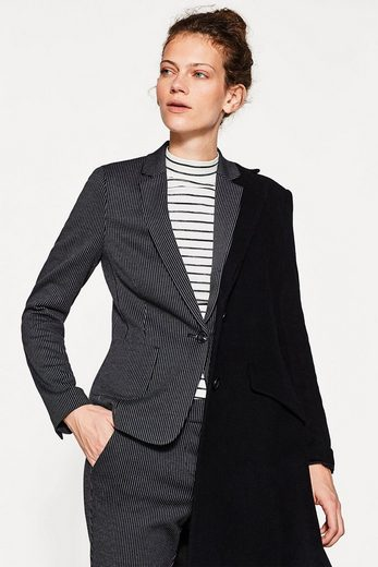 Esprit Jersey Stretch Cardigan With Pinstripes