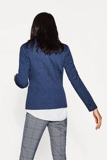ESPRIT Melierter Jersey-Stretch-Blazer