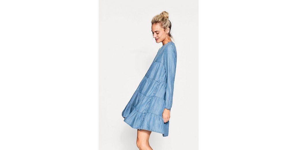 Kleid ESPRIT aus Volant ESPRIT ESPRIT aus ESPRIT Volant Lyocell flie脽endem flie脽endem Kleid flie脽endem Lyocell Kleid Lyocell aus Volant qCAwdS