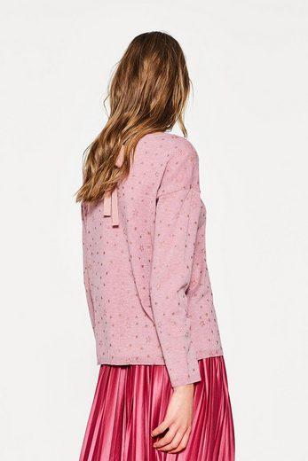 EDC BY ESPRIT Feinstrick-Pullover mit Glitter-Print