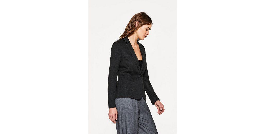 ESPRIT Jersey-Stretch-Blazer mit feinen Tupfen Niedrige Versand Online RI8Am