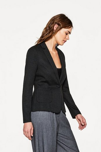 Esprit Jersey Stretch Blazer With Fine Pat