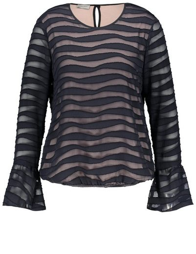 Gerry Weber Bluse 1/1 Arm Bluse mit Wellenmuster