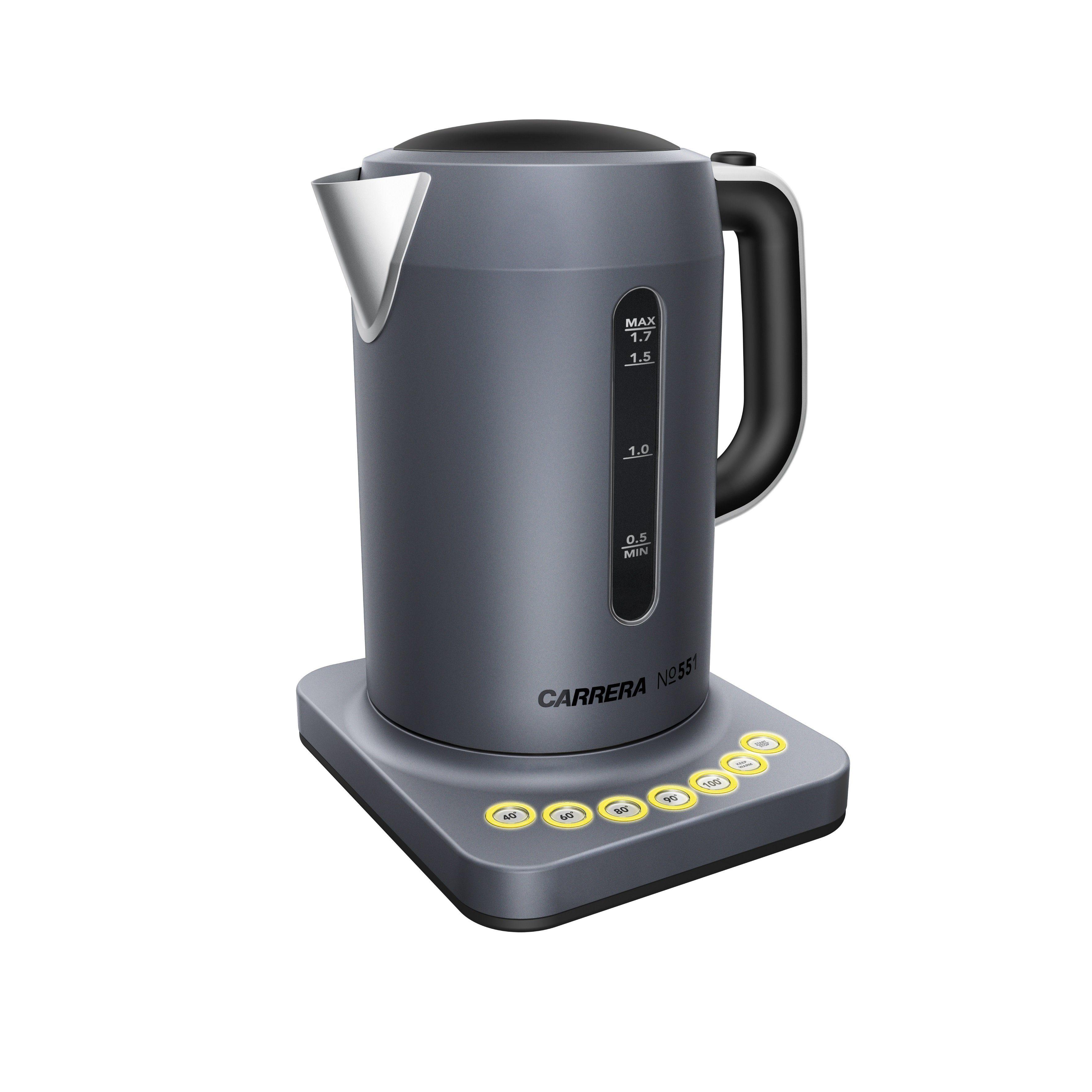 CARRERA Original Wasserkocher Edelstahl 2.200 Watt mit Warmhaltefunktion »No 551«