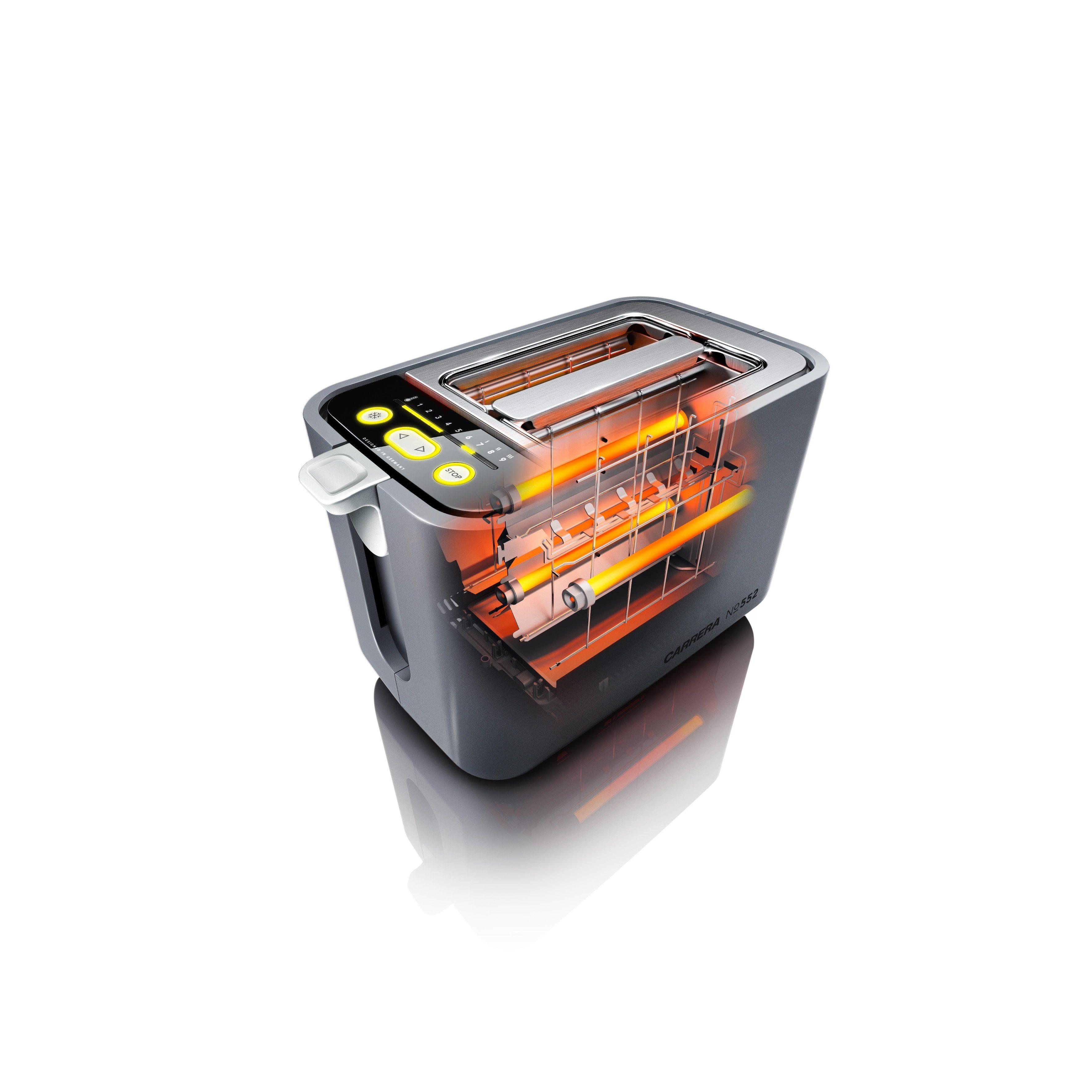 CARRERA Original Quarz Toaster mit Brötchenaufsatz und 9 Feinabstufungen »No 552«