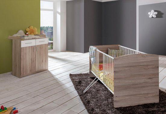 Babymöbel-Set »York«, (Spar-Set, 2-tlg), Bett + Wickelkommode