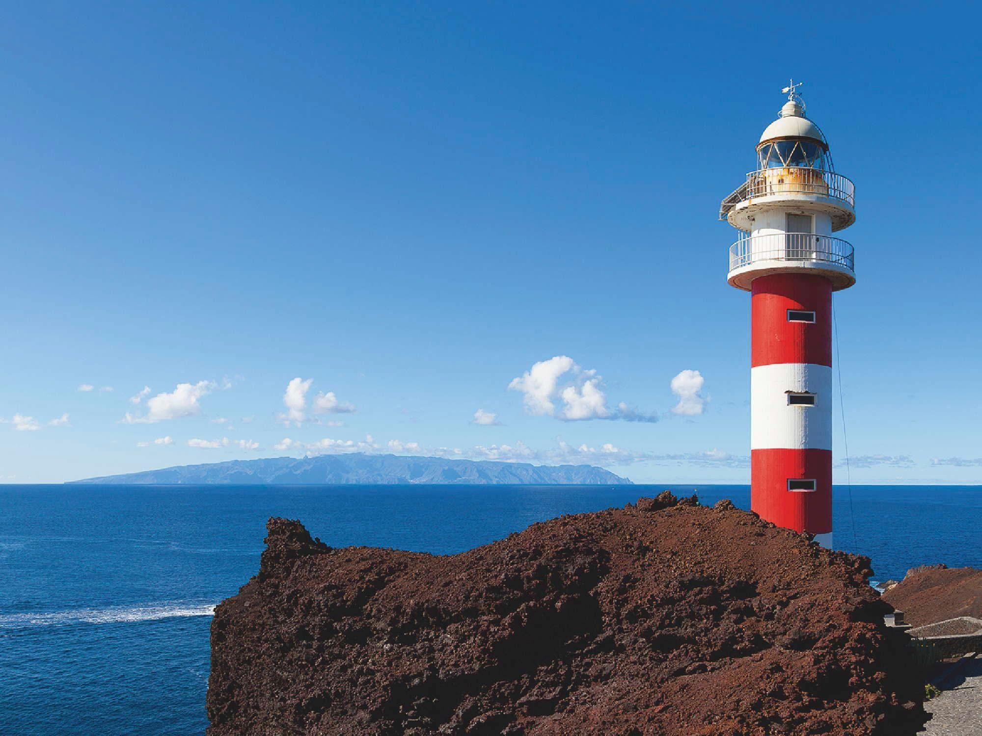 Home affaire Glasbild »V. Torres: Leuchtturm in Punta Teno, Teneriffa, Spanien«, 80/60 cm
