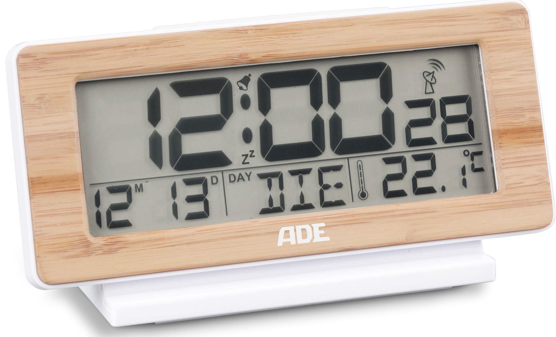 ADE DCF-Funkwecker mit Temperatur- und Datumsanzeige CK 1703, Schlummern leicht gemacht – dank extra großer Snoozetaste
