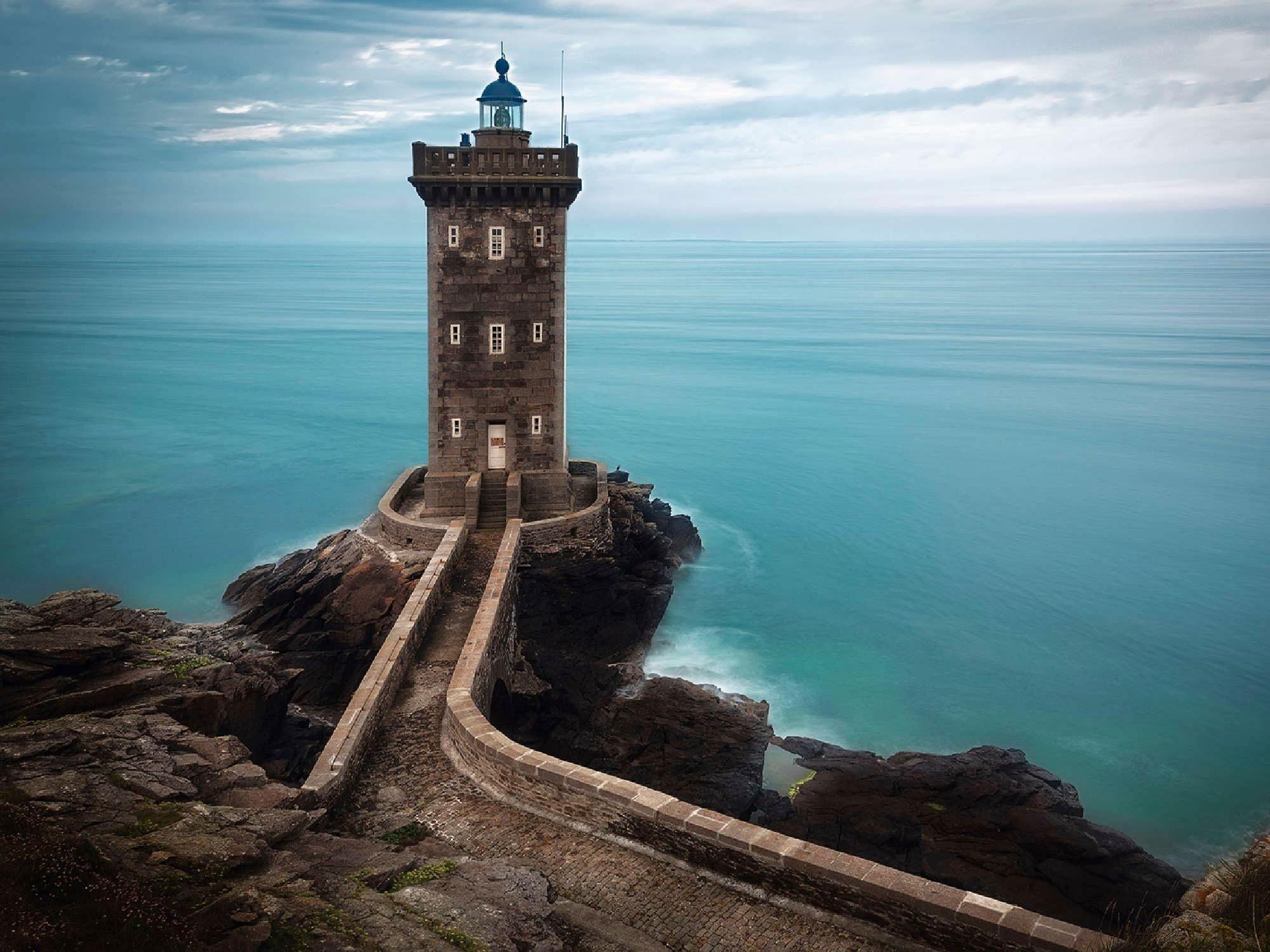 Home affaire Leinwandbild »Unknown: Leuchtturm an der Atlantikküste, Frankreich«, 80/60 cm