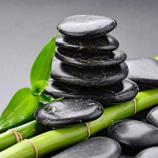 home affaire glasbild zen basalt steine und bambus 50. Black Bedroom Furniture Sets. Home Design Ideas