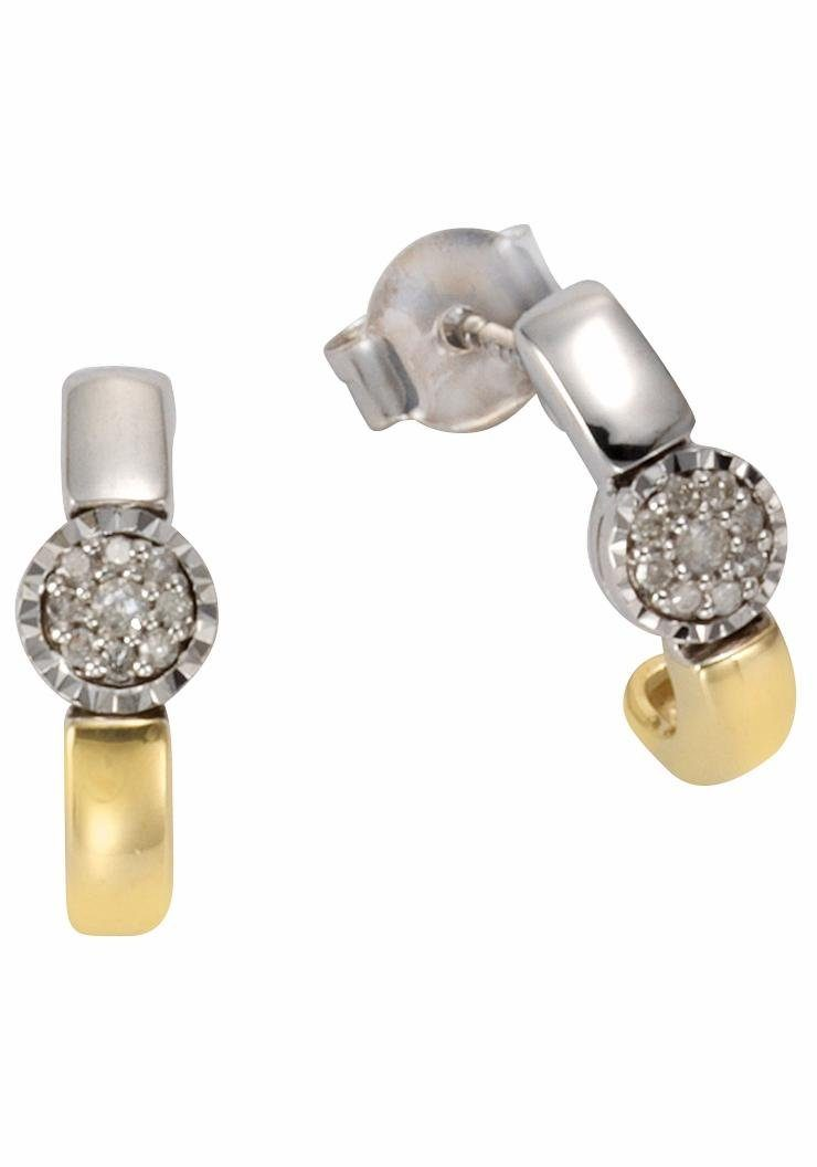 Firetti Paar Ohrstecker, mit Brillanten und Diamanten