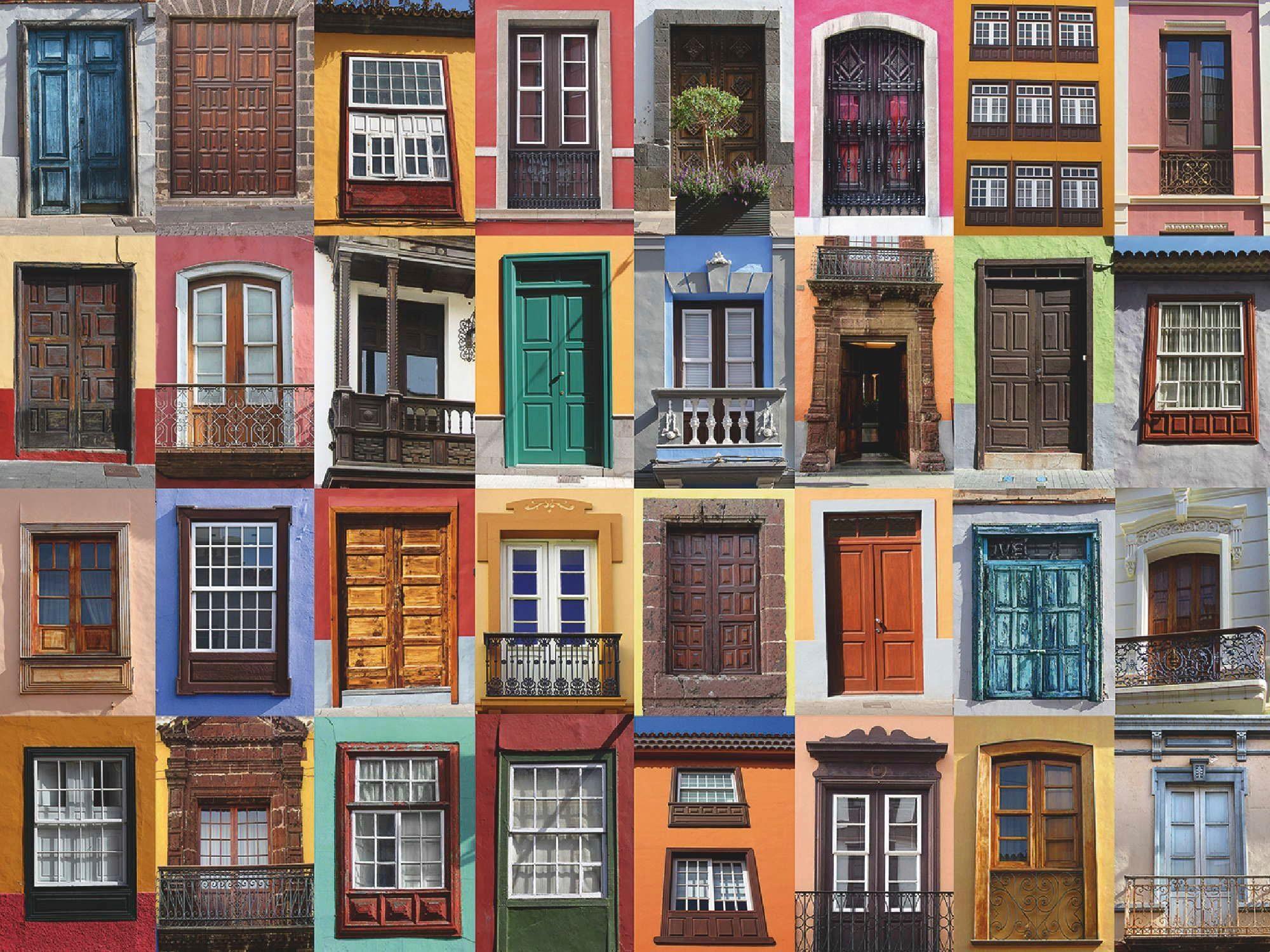Home affaire Leinwandbild »Europäische Türen und Fenster im mediterranen Stil«, 80/60 cm