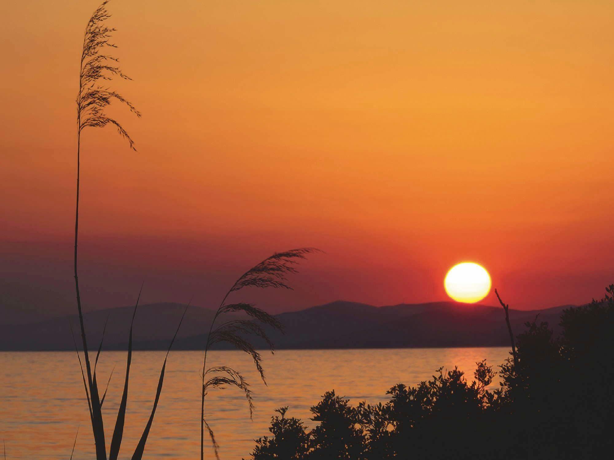Home affaire Glasbild »Ageev Rostislav: Sonnenuntergang in Griechenland«, 80/60 cm