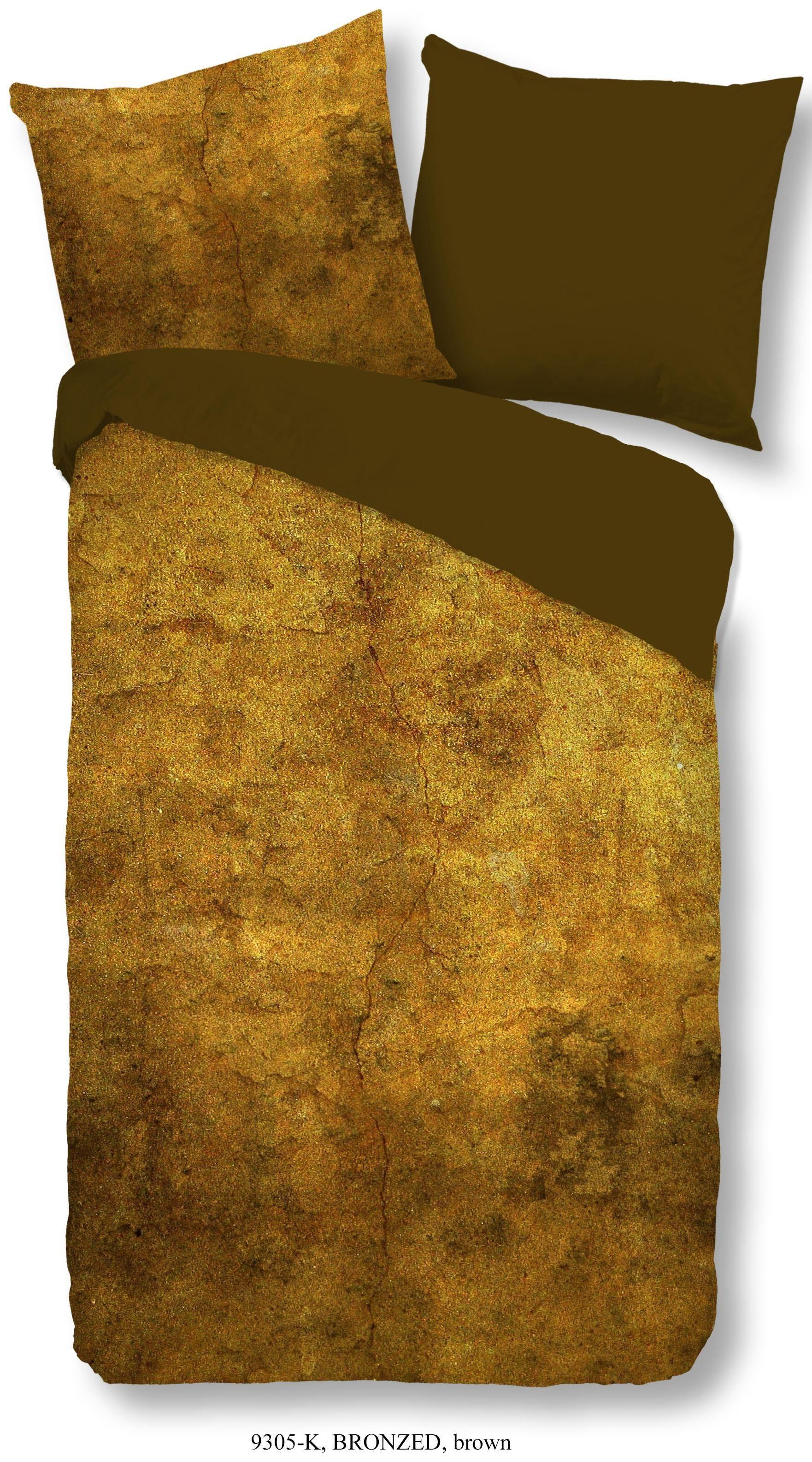 Wendebettwäsche »Bronzed«, Descanso, mit Bronze Struktur