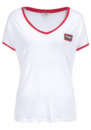 Wrangler T-shirt, With Contrasting Details And Small Logo