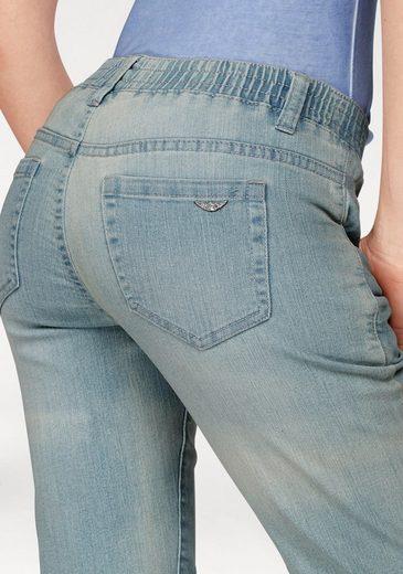 Arizona Jeansbermudas mit Schlupfbund, High Waist