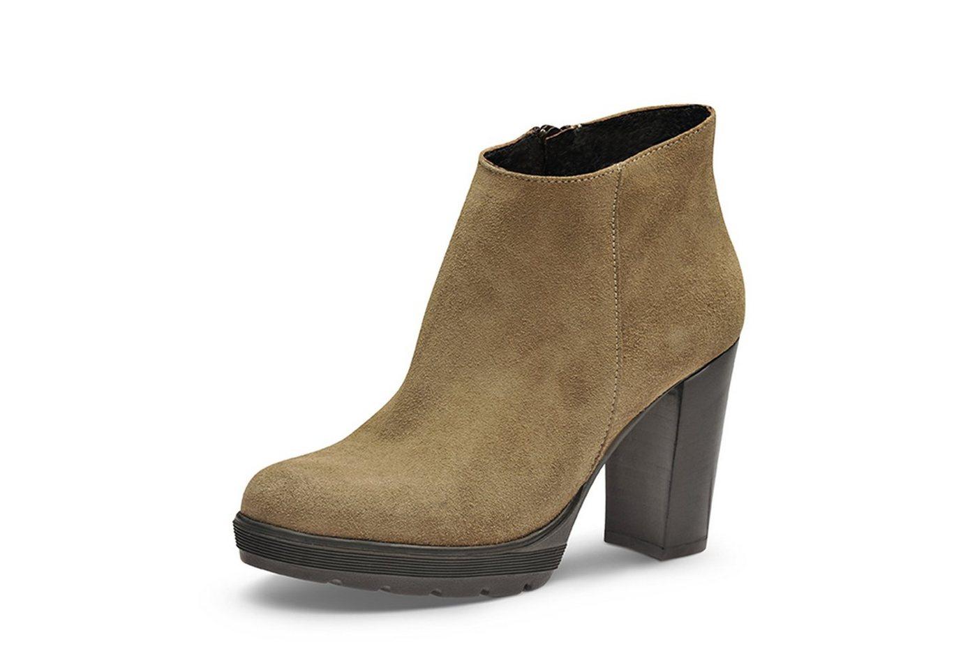 Evita »UBALDA« Plateaustiefelette   Schuhe > Stiefeletten > Plateaustiefeletten   Leder   Evita