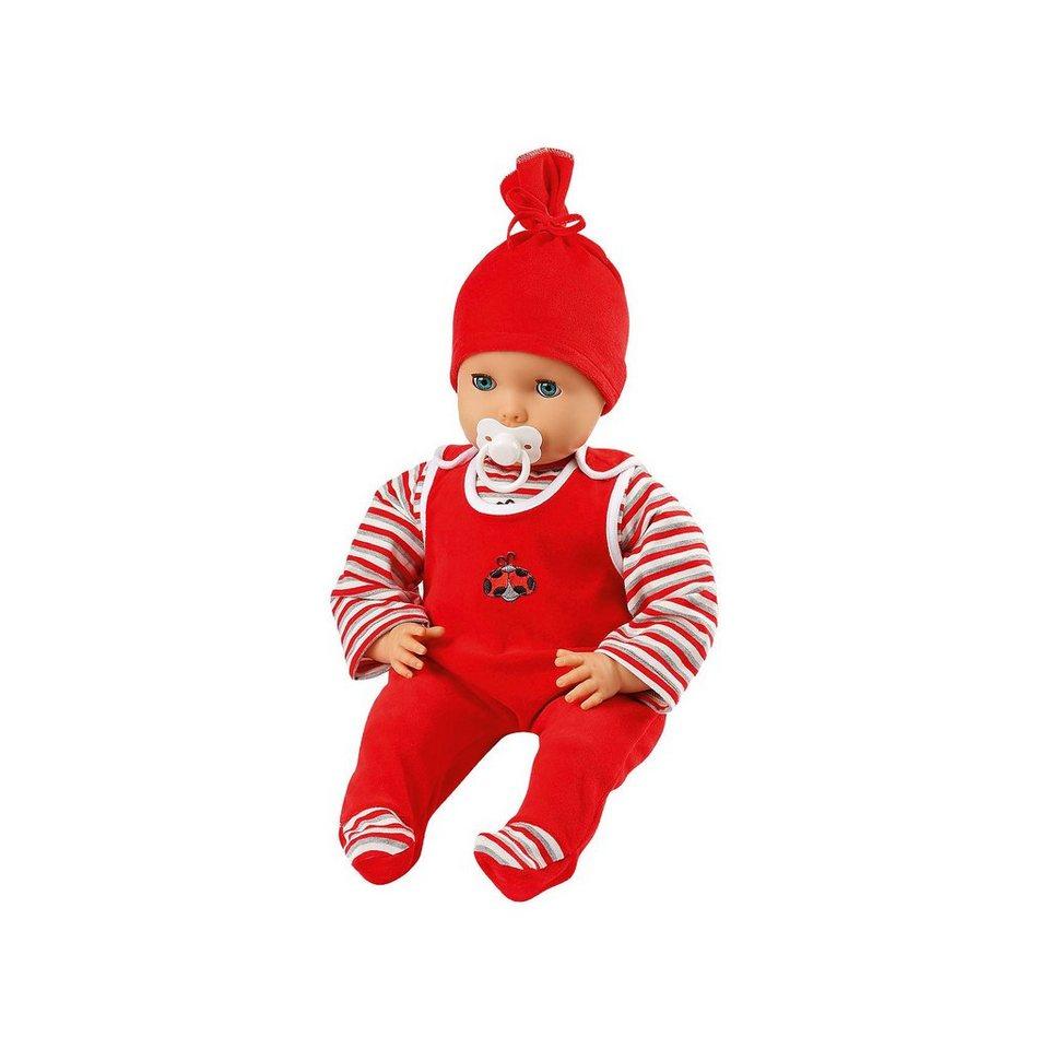 Emil Schwenk Babypuppe mit rotem Strampler, 50cm