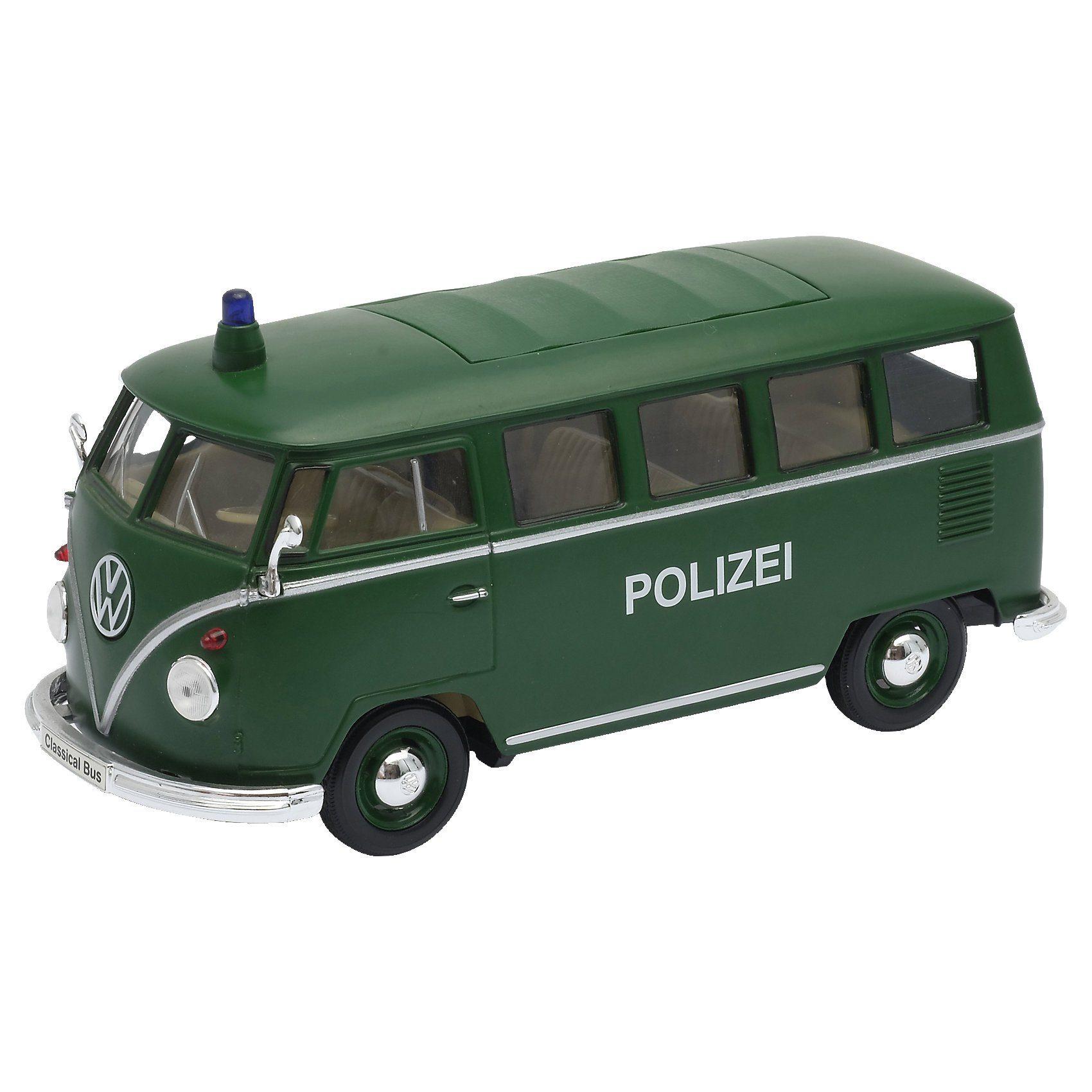Welly Volkswagen T1 Bus Polizei 1:24 grün