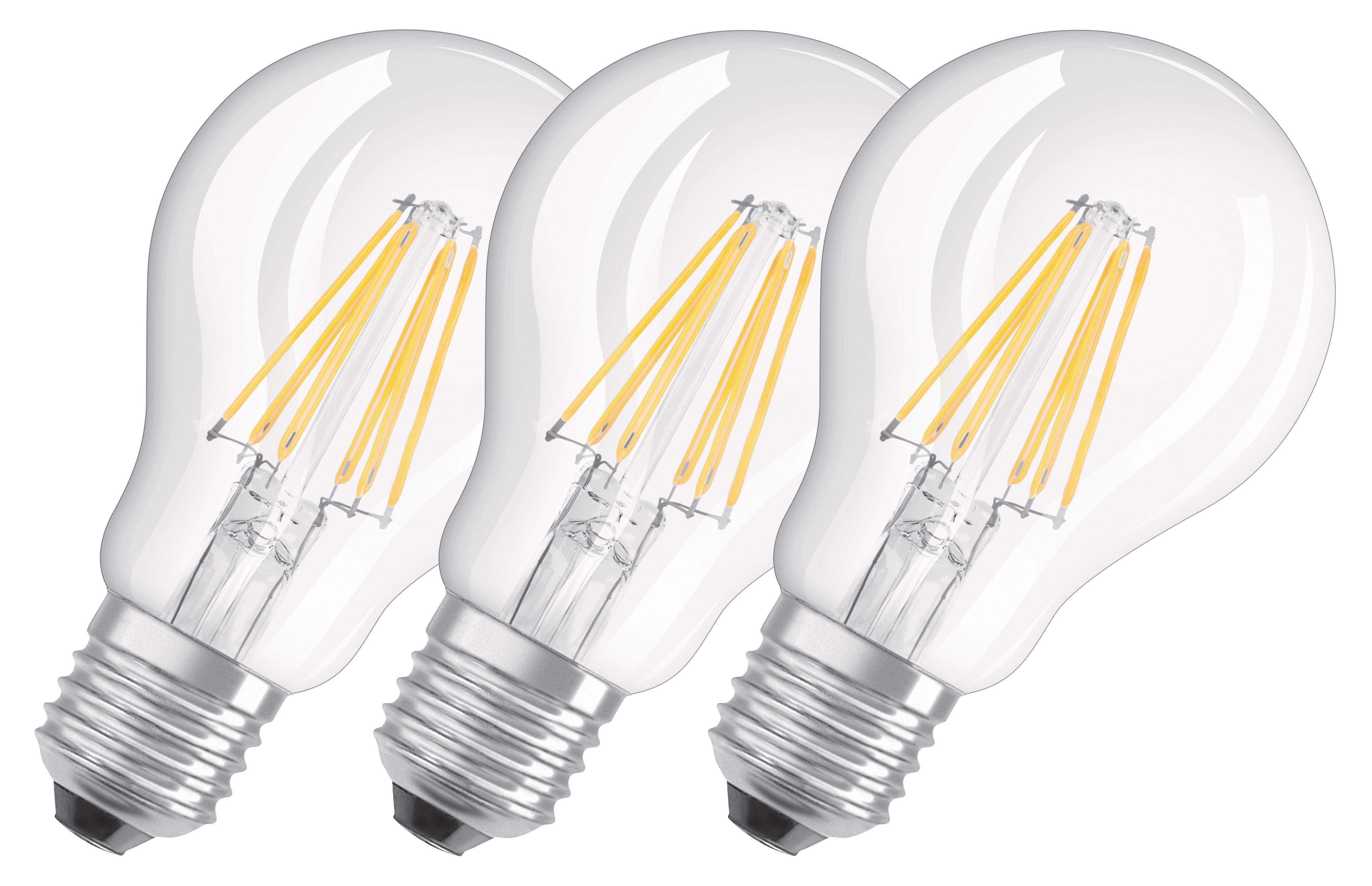Osram 3er Set LED BASE CLASSIC A - LED-Lampe, klassische Kolbenform »BASE CLAS A 60 6 W/827 E27«