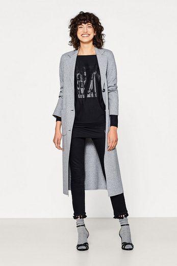 EDC BY ESPRIT Fließendes Shirt mit Glitter-Print