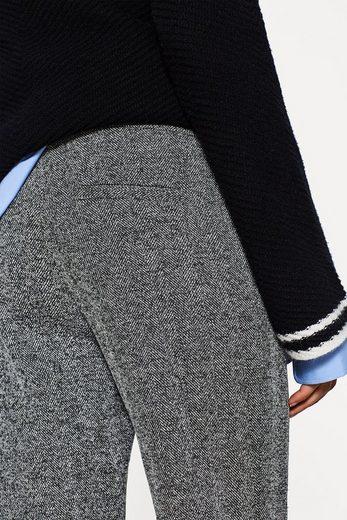 EDC BY ESPRIT Jersey-Pants mit Fischgrat-Muster