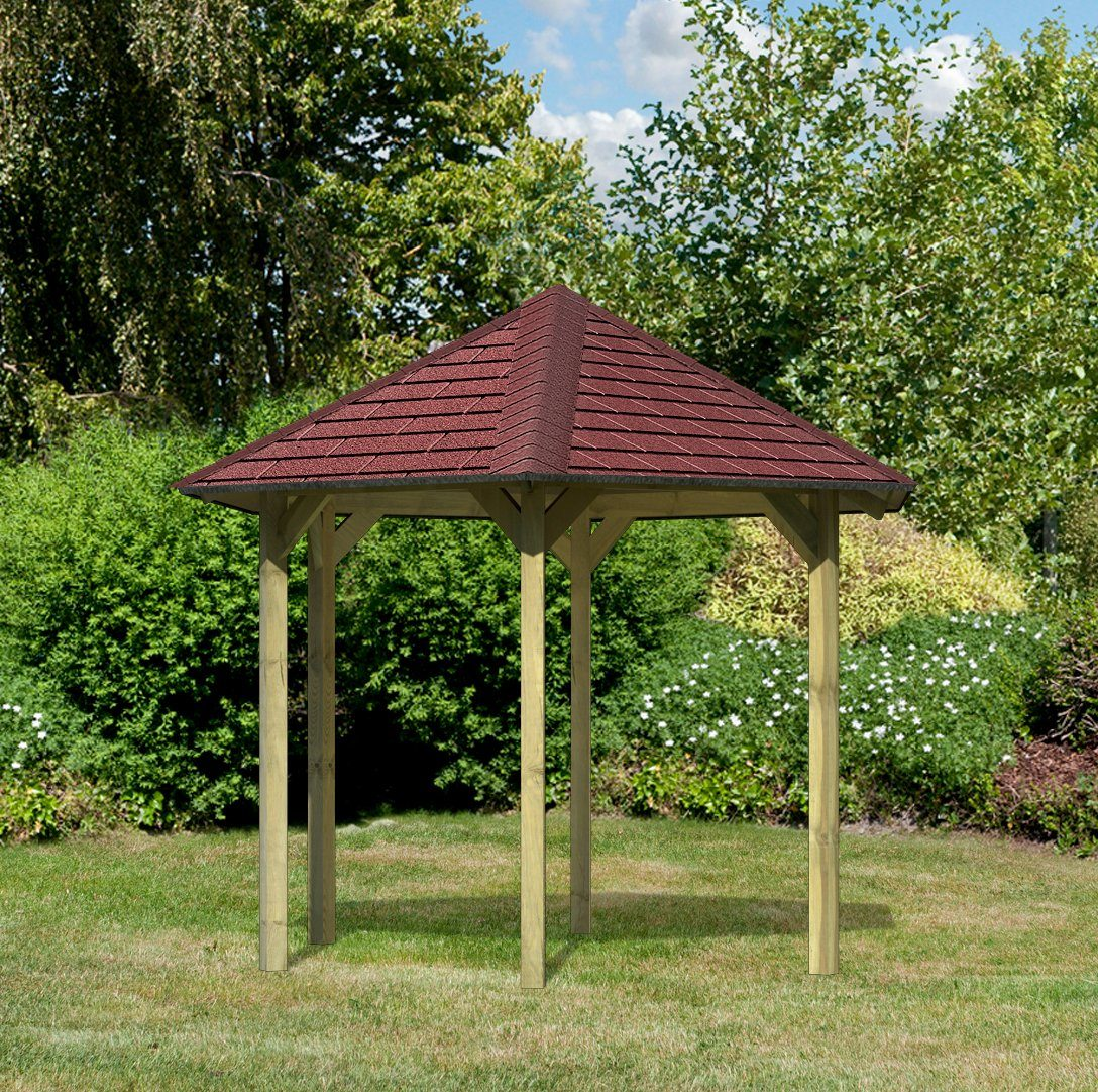 KARIBU Set: Holzpavillon »Madrid«, BxT: 276x243 cm