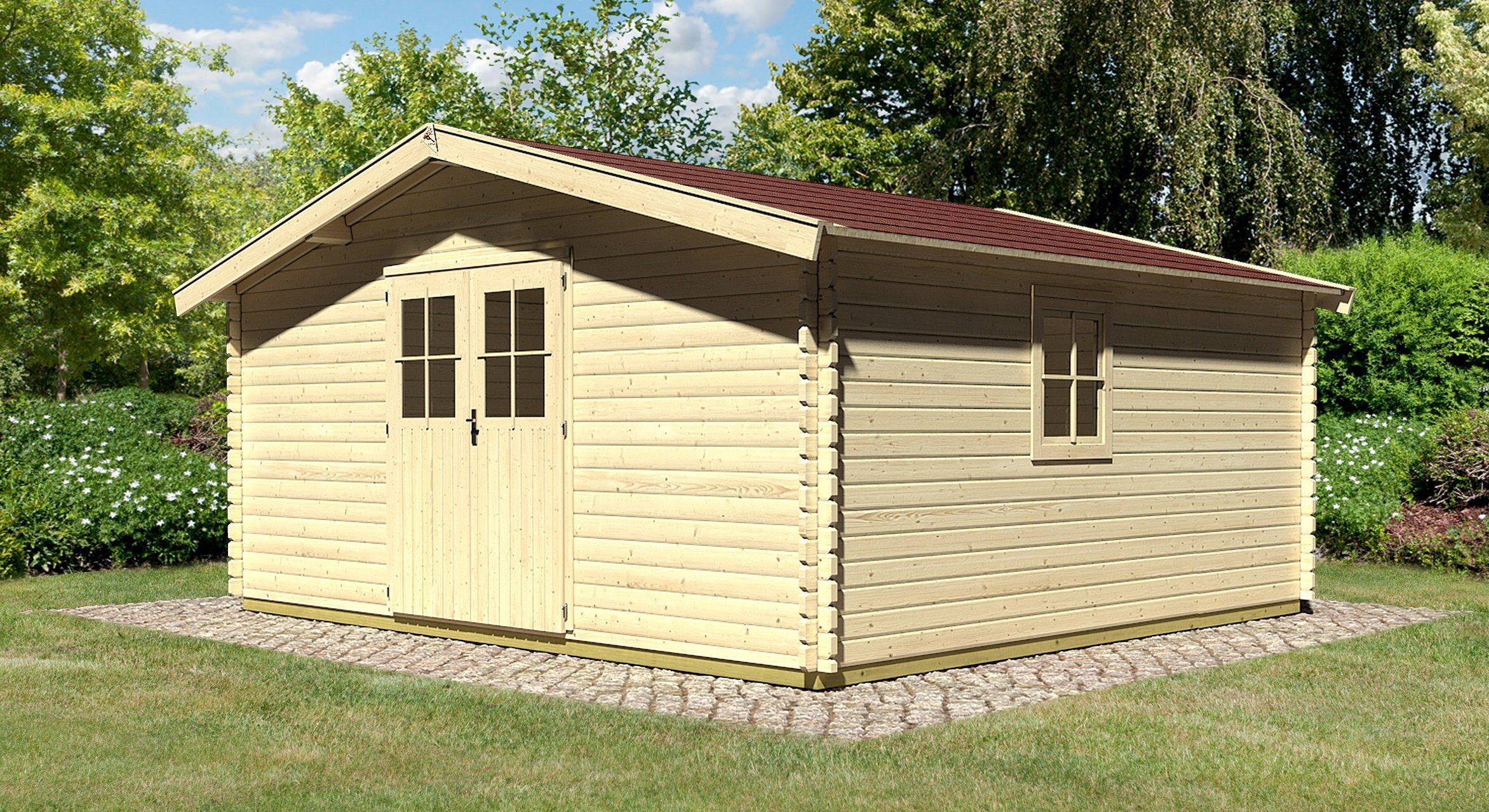 KONIFERA Set: Gartenhaus »Mühlheim 9«, BxT: 502x502 cm, inkl. Dachschindeln | Garten > Gartenhäuser | KONIFERA